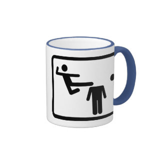Kicking The Head Off The Neck Ringer Coffee Mug