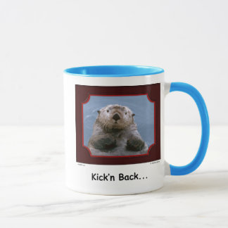 """Kick'n Back!"" Sea Otter Mug"