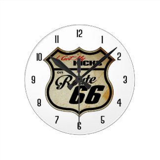 Kicks on 66 round clock