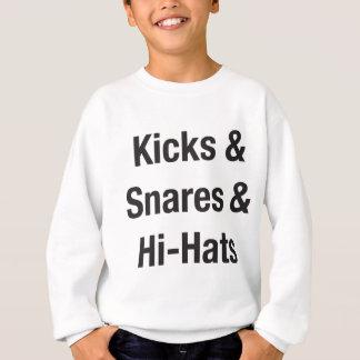 Kicks & Snares & Hi-Hats - Black Print Sweatshirt