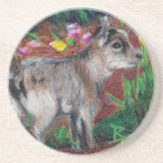 Kid aceo Baby Goat Coasters