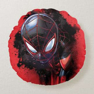 Kid Arachnid Ink Splatter Round Cushion