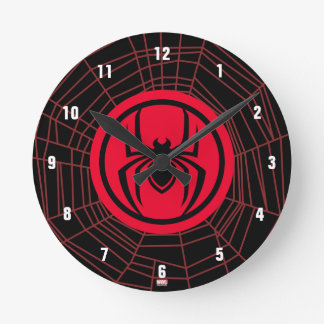 Kid Arachnid Logo Round Clock
