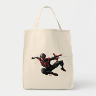 Kid Arachnid Web Slinging Through City