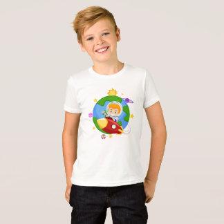 Kid Astronaut on a Rocket Ship Space T-Shirt