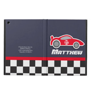 Kid auto sport car red grey personalized ipad case