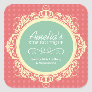 Kid Boutique Packaging Stickers