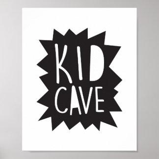 Kid Cave Poster Print