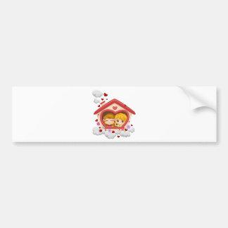 Kid Couple Bumper Sticker