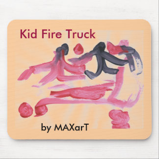 Kid Fire Truck by MAXarT Mouse Pad