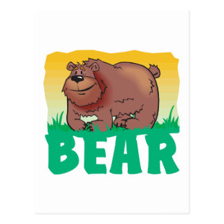 Kid Friendly Bear Postcard