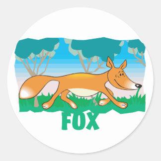 Kid Friendly Fox Round Sticker