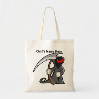Kid Friendly Grim Reaper Cute Halloween Tote Bag