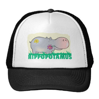 Kid Friendly Hippopotamus Mesh Hats