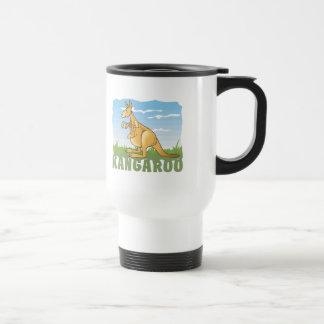 Kid Friendly Kangaroo Stainless Steel Travel Mug