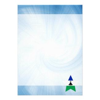 Kid Friendly Lesotho Flag Star 13 Cm X 18 Cm Invitation Card