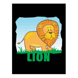 Kid Friendly Lion Postcard