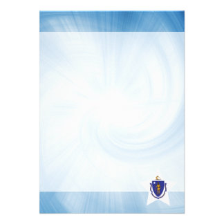 Kid Friendly Massachusetts Flag Star 13 Cm X 18 Cm Invitation Card