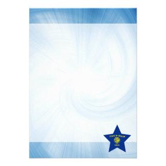 Kid Friendly Oregon Flag Star 13 Cm X 18 Cm Invitation Card