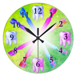 Kid Fun Colorful Toothbrush Clock
