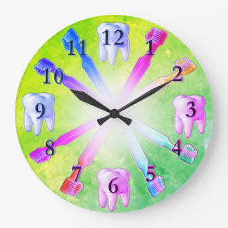 Kid Fun Colourful Toothbrush Clock