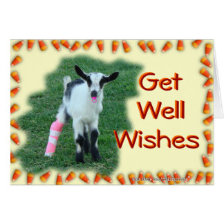Kid Goat Get Well--customize any occasion & anyone Card
