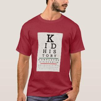 """Kid History"" Eye Chart T-Shirt"