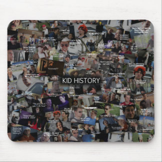 """""""Kid History"""" Quote Collage Mouse Pad"""