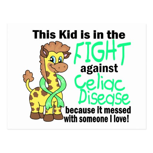 Kid In The Fight Against Celiac Disease Post Card