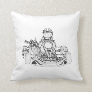 Kid Kart/Checkered Flag Pillow