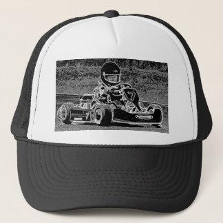 Kid Kart in Black & White Trucker Hat