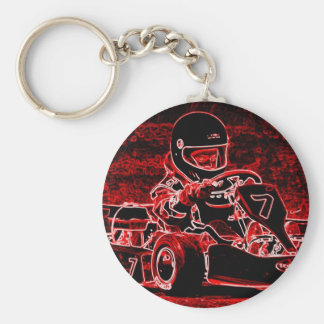 Kid Karts Are RED Hot! Key Ring