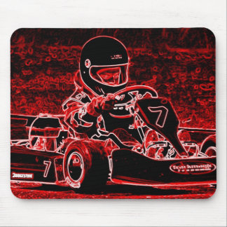 Kid Karts are RED Hot Mouse Pad