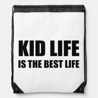 Kid Life Best Life Drawstring Bag