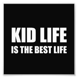 Kid Life Best Life Photo Print