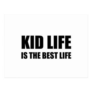 Kid Life Best Life Postcard