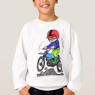 Kid on bike sweatshirt