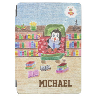 Kid personalized  penguin iPad smart cover iPad Air Cover