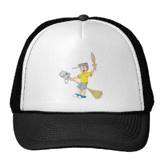Kid Playing Trucker Hat