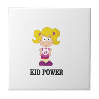 kid power yeah small square tile