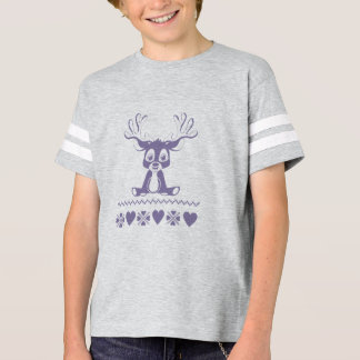 Kid's apparel with nordic style pattern and deer T-Shirt