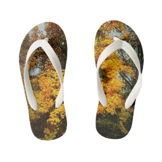 Kid Slippers - Fall trees Kid's Thongs