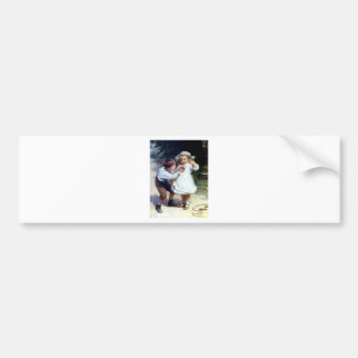 Kid Sweethearts painting Bumper Sticker