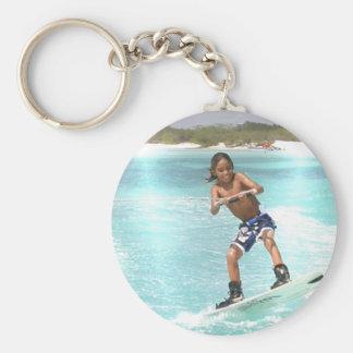 Kid Wakeboarding Keychain