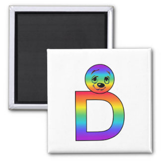 Kidbet Letter D Refrigerator Magnets