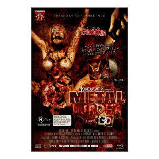 KidCrusher - Metal Murder 3D (16x24) Poster