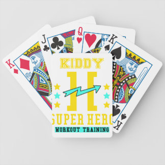 Kidd super hero workout training bicycle playing cards