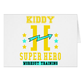 Kidd super hero workout training card