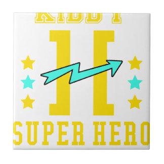 Kidd super hero workout training ceramic tile