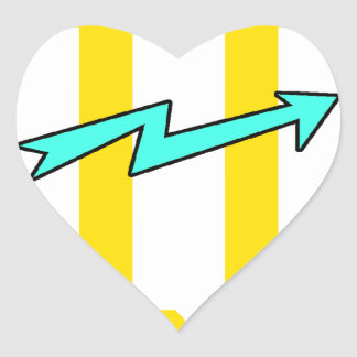 Kidd super hero workout training heart sticker